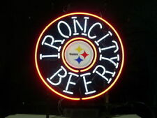 "New Iron City Beer Pittsburgh Steelers Neon Sign 18""x18"""