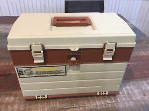 Vintage Plano Plastic Tackle Box USA 757 4-Drawer Fishing Lures (Arts & Crafts)