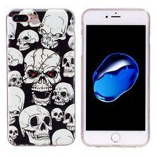 Softcase Hülle Cover Totenkopf Skull leuchtet im dunkel für iPhone 7PLUS & 8PLUS