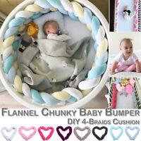 Infant Plush Crib Bumper Bed Bedding Crib Woven Protection Pad Pillow 1M/2.2M/3M