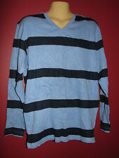 Old Navy Men's Blue Striped V-Neck Sweater - Size Large - NWT