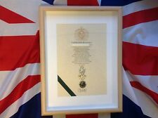 Oath Of Allegiance Royal Irish Rangers (framed with Cap Badge)