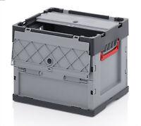 2x Faltbox m. Deckel Auer Kunststoffbehälter Klappbox Stapelkiste 40x30x32cm 31L