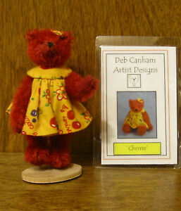 DEB CANHAM Artist Designs CHERRIE BEAR, Hold Your Heart Coll  LE Mohair 3.75""