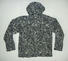 BURTON Black/Gray Nylon Shell SNOWBOARD JACKET Winter Ski Rain Coat Sz Men's M