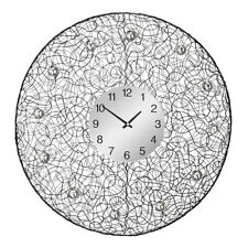 Tangle Wall Clock Diamante Detail, Durable Black Metal Frame, Home Decor