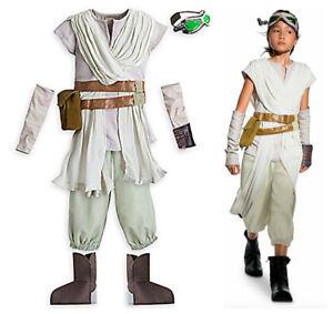 DISNEY STORE Star Wars Force Awakens REY Costume Size 9/10, 4 pieces Halloween