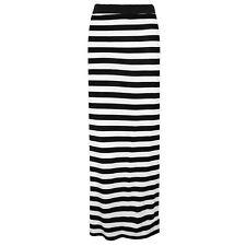 New Ladies Women Gypsy Long Jersey Bodycon Maxi Dress Skirt Plain Print Skirt