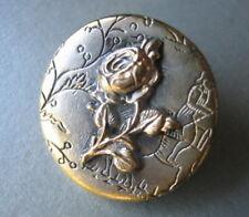 BOUTON ANCIEN ( fleur une  rose)   -  OLD BUTTON  23mm