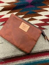 Will Leather Goods Wax Coated Canvas Zip Pouch