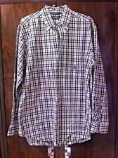 STYLISH NAUTICA BLUE/YELLOW/WHITE PLAID LONG SLEEVE SHIRT SIZE:M BNWOT