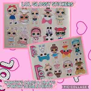 20 LOL Dolls Stickers, PRE CUT READY TO USE, PARTY BAG, LUNCH BOX, DRINK BOTTLE
