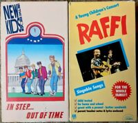 New Kids On The Block Animated & Raffi Live Concert VHS Lot Of 2 Music