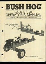 Bush Hog Tractor Powered Log Splitter Rare Original Factory Owner's Manual