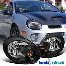 2003-2005 Dodge Neon Replacement Black Head Light Lamps Headlights Left+Right