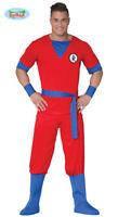 Generique - Rotes Manga Kämpfer Kostüm für Herren Karneval Anime