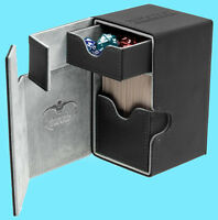 ULTIMATE GUARD FLIP n TRAY BLACK 100+ XENOSKIN DECK CASE Standard Size Card Box