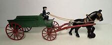 ANTIQUE KENTON CAST IRON GREEN WAGON AND HORSE