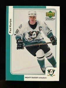 1999-00 Upper Deck McDonalds Retro Paul Kariya #McD-1 Anaheim Ducks