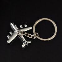 3D Mini Model Airplane Metal Keychain Keyring Keyfob Key Chain Ring Pendant Gift