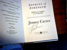 JIMMY CARTER SOURCES OF STRENGTH 1997 Hand SIGNED FIRST EDITION HcDj Meditations