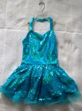 Balera Blue Adult Small Dance Costume