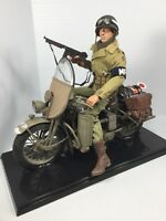 1/6 US 4TH DIV MP POLICE HARLEY-DAVIDSON WLA MOTORCYCLE WW2 DRAGON DID BBI 21ST