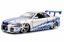 Brian's Nissan Skyline GT-R (R34) Fast and Furious 1/24 7 Diecast CAR model