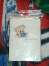 American Greeting Lot of 120 Blank Cards With Envelopes NEW Thank You Bear