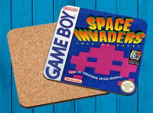 SPACE INVADERS NINTENDO GAME BOY POSAVASOS MADERA WOODEN COASTERS