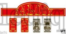 Stickers Western Cowboys for Playmobil SALOON