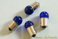 Set 4x bombilla 12v/10w-ba15s-azul-bombilla bombilla eléctrica 12 voltios 10 XL PK