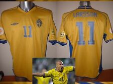 Sweden Umbro Adult Medium LARSSON Celtic Shirt Jersey 04 Football Soccer Sverige
