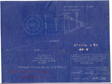 Vintage 1924 US Navy 45 sec comb. Fuze  Blue print.for the frankford Arsenal