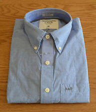 NUOVO Abercrombie & Fitch Stoney Creek Blu Camicia Classica M RRP £ 82