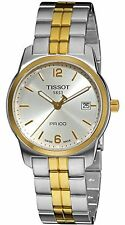 NEW Tissot T0494102203700 Men's PR 100 Silver Dial Two Tone Gold/Silver SS Watch