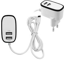3.1A Triple 2Port Micro USB Port Wall Home Travel AC Charger Adapter EU Plug US