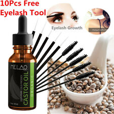 ORGANIC CASTOR OIL FOR EYELASHES, EYEBROWS, HAIR GROWTH, SKIN & FACE +10Pcs Tool