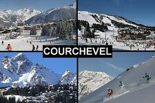 SOUVENIR FRIDGE MAGNET of COURCHEVEL FRANCE SKIING