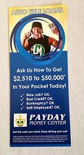 HULK HOGAN Auto Loan Promotional Payday FLYER AD NEW Money Wrestling wwe tna 1