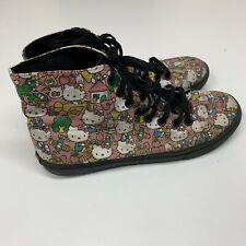 Vans x Hello Kitty Pink Repeat Face High Top Fashion Lace Up Sneakers Shoes W 6