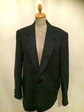 HARRIS TWEED Men's Blue Jacket Size L