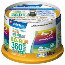 New! Verbatim Blu-ray Disc 50 pcs Spindle - 50GB 4X BD-R DL - Inkjet Printable