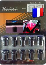 KIT BULLE 10 BOULONS NOIR ZR-7 ZRX ZX 10 R ZX 2R ZX 6R