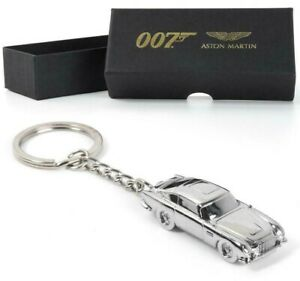 OFFICIAL NO TIME TO DIE ASTON MARTIN DB5 SILVER KEYRING JAMES BOND 007 NEW GIFT