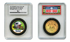 NEW ENGLAND PATRIOTS NFL *GREATEST DAD* JFK 24KT Gold Clad Coin SPECIAL LTD CASE