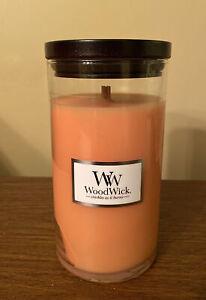 WoodWick Mango Mandarin Pillar Jar Candle New 18.6 oz Rare Discontinued