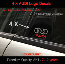 Adesivi per SPORTELLO FIANCATA AUDI 4X STICKERS A1 A3 A4 A5 A6 TT S3 S-line