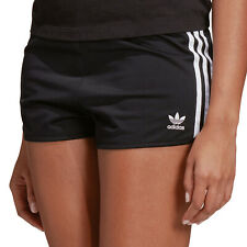 adidas Originals 3 Stripes Shorts Satin Damen Kurze Hose Sporthose Hotpants