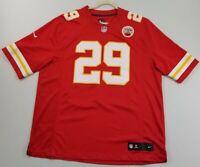 NFL Eric Berry 29 KC Chiefs Men's Football Jersey XXL 2XL Red V Neck Pullover